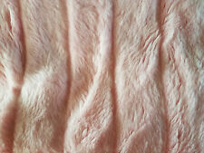 Pink Faux Fur Rib Striped Mink Fabric 1 yd x 62""
