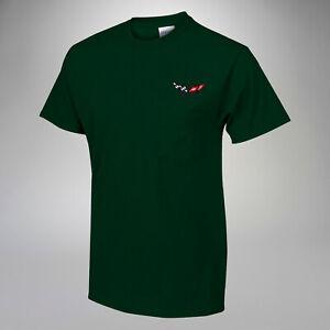 1997-2004 C5 Corvette Crew Neck Pocket T-Shirt w/ C5 Embroidered Logo 619977