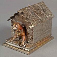 Wiener Bronze  Vienna Bronze  Hund in Hundehütte 1875 – 1899   Dog in doghouse