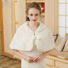 Bridal Jacket Bolero fur White Ivory Stole Wedding Artificial