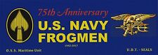 US Navy FROGMEN SEALS bumper sticker 75th Anniv WHOLESALE LOT OF 10 FOR RETAILER