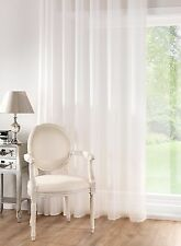 LINEN LOOK Plain Voile Panel White Cream SEMI SHEER EXTRA WIDE EXTRA LONG