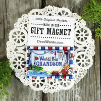 DecoWords * World's Best GRANDSON Magnet  * Family Appreciation Gift * New in pk