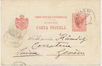 RUMÄNIEN 1905 König Karl I 10 B rosa GA-Postkarte sehr seltener privater Zudruck