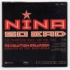 Nina Hagen CD So Bad - 1-track promo in cardsleeve - 862 780-2