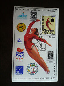 Stamps - Bolivia - Scott# 640a - Souvenir Sheet - Imperf