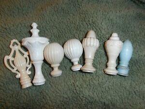 LOT of 7 finials Vintage lamp finial    hard plastic type
