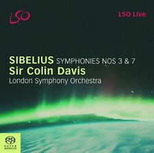 London Symphony Orchestra - Sibelius  Symphonies Nos 3 and 7 (LSO Davis) [CD]