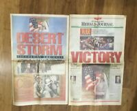 2 GULF WAR Newspapers 1991 A PIECE OF HISTORY  VG Condition