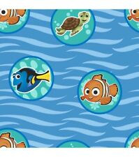 Finding Nemo Wave Badges One Yard Cotton Fabric