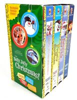 Holly Jolly Christmas Collection 4 VHS Tape Set Golden Books Rudolph Frosty Etc