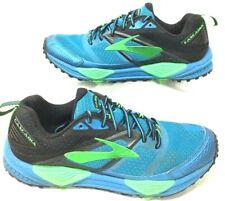 Men's Size 8 D BROOKS Cascadia Tennis Shoes Turquoise Blue Athletic Shoes
