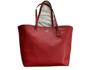 coach handbags used large pre-owned red