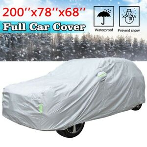 Universal SUV Fit Car Cover Outdoor Waterproof UV Rain All weather Protection US