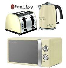 Russell Hobbs Microwave Kettle and Toaster Set Jug Kettle & 4 Slot Toaster Cream
