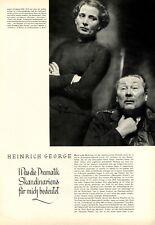 Heinrich George 4 XL pages rapport 1942 sur le thème de drame drame Scandinavie +