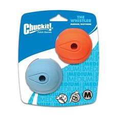 Chuckit Fetch Whistler Balls Dog Puppy Toy Bouncy Tough Natural Rubber Whistles