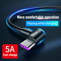 5A USB Type C Charger Data Cable Fast Charging For Huawei P30 Pro Samsung S10 +