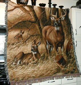 BUCK DEER TAPESTRY Beautiful Willdlife Animal Landscape Nature Scene Home Decor
