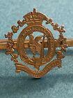 ANTIQUE VICTORIAN 9CT GOLD SWEETHEART BROOCH THE ROYAL IRISH REGIMENT  CAP BADGE