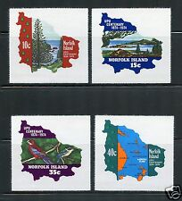 Norfolk Island Complete MNH Set #181-184 on Peelable Paper Background Stamps
