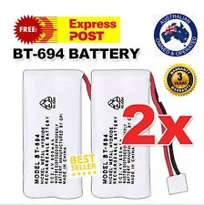 2x BT-694 BT-694S Rechargeable Ni-MH 2.4V 800mAh Replacement Battery for Uniden