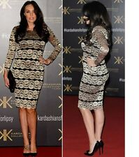 Brand New LIPSY Black/Gold Or Pink Colours Lace Bodycon Dress..