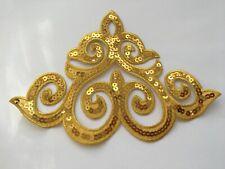 Pair of sequined applique motif costume patches iron on 12.5 cm*31 cm//18*5 cm