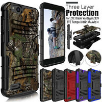 For ZTE Blade Vantage / Avid 4 Z855 / Tempo X Rugged Hard Armor Phone Case Cover