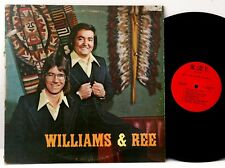 "WILLIAMS & REE *VG (COVER)/ VG (VINYL)* ""VOLUME 1"" 1974 US W&R RECORDS LP"