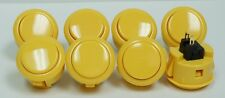 Japan Sanwa Push Buttons OBSF-30-Y Yellow Color x 8 pcs Video Game Arcade parts