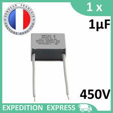 Condensateur moteur 1µF 1uF 450V fils MKSP-8 démarrage/permanent SH