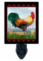 Night Lights - Rooster with Hearts - Country Chicken - Farm - Barn - Kitchen