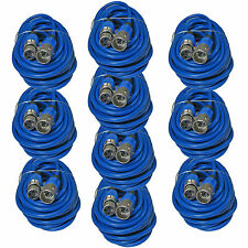 10 PACK LOT 3 pin XLR male to female mic microphone audio extension cable 25 ft