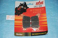 2 plaquettes de frein Arr. SBS Suzuki GSXR 600 750 1000 Honda CBR 600 1000 RR