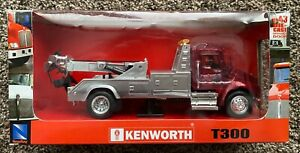NewRay 1:43 Kenworth T300 Die Cast - Tow Truck - New - Red - 15717