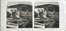 Villefranche Le Port Photo Stereo Steglitz Berlin Vintage Argentique 1904