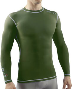 Sub Sports Dual Compression Mens Long Sleeve Top - Green