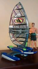 Max Steel 2001 MX33  Wind Raider Vehicle With Action Figure Complete Set