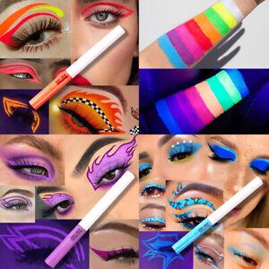 Waterproof Liquid Eyeliner Pen Long Lasting Neon Fluorescent Eye Liner Makeup