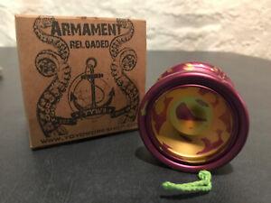 YoYo Workshop - Armament Reloaded Violet w/ Gold Acid Splash - LIMITED RELEASE