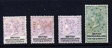 BRITISH BECHUANALAND QV 1888 Key Plate Part Set SG 10 to SG 15 MINT
