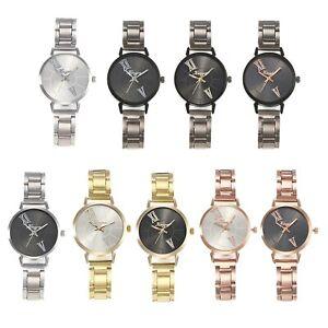 Gold Silver Ladies Watches Analog Quartz Romantic Women Watch Steel Bracelet UK