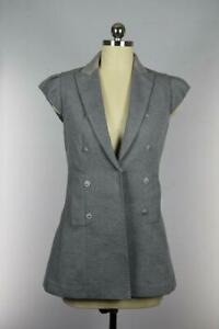 Brunello Cucinelli Women's Sleeveless Long Blouse Shirt Size 42 Mint