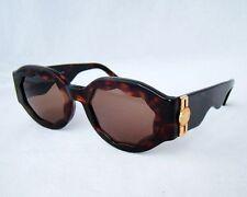 Gianni Versace authentic S13 sunglasses vintage brown tortoise medusa rare gold