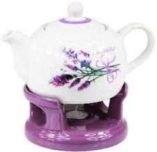 Teekanne Kanne Stövchen Set elegant außergewöhnlich modern Design Blumenmuster