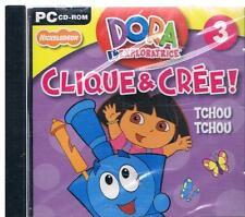 jeu pc : dora l'exploratrice, clique et crée : tchou tchou