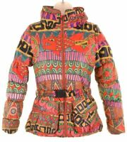 DESIGUAL Girls Padded Jacket 11-12 Years Multicoloured Polyester  DE29