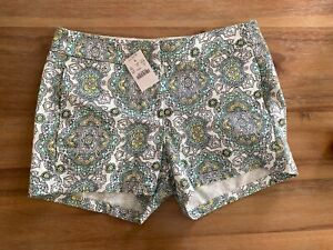 J Crew Womens Chino Shorts Floral Print Sz 0 NWT!