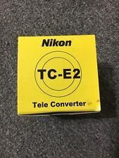 Nikon TC-E2 2x Tele Converter Camera Lens, New with Box + Case + Instructions